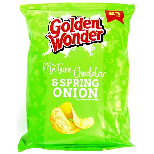 Golden Wonder Mature Cheddar & Spring Onion PM £1