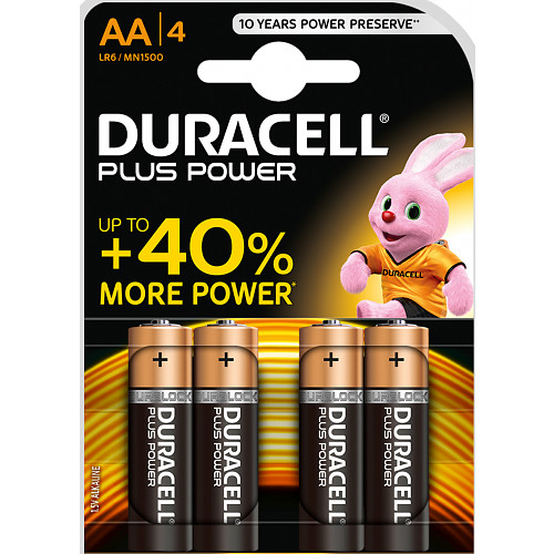 Duracell Plus Power AA Alkaline Batteries 4 x 3 Counts