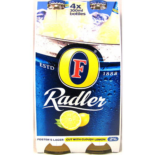 Foster's Radler Lager Cut with Cloudy Lemon 4 x 300ml