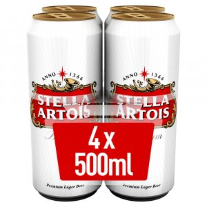 Stella Artois Lager Beer Cans