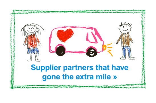 Supplier partners that have gone the extra mile