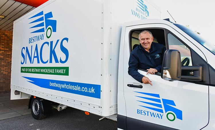 Bestway Snacks van and driver