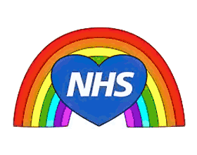 NHS heart and rainbow