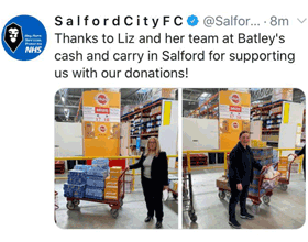 Tweet from Salford City FC