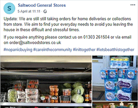 Saltwood General Stores Facebook page